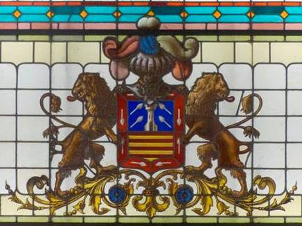 Vidriera en palacio Hormaza