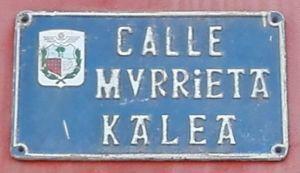 Placa Calle Murrieta en Barakaldo