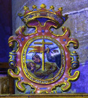 Escudo-abadía-de-San-Millan (tallado)
