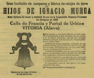 Anuncio de Murua 18-07-1913