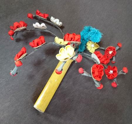 昔の花笠で使われていた花