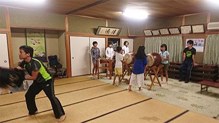 大木獅子組秋祭りの練習2017