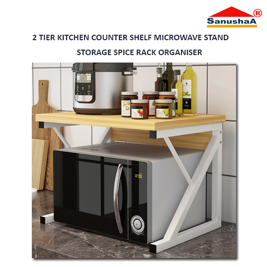 sanushaa kitchen shelf microwave stand