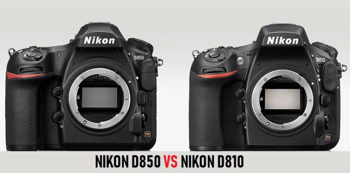 Nikon D810 vs D850 Compare