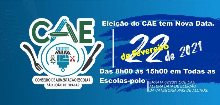 Eleição do CAE será dia 22