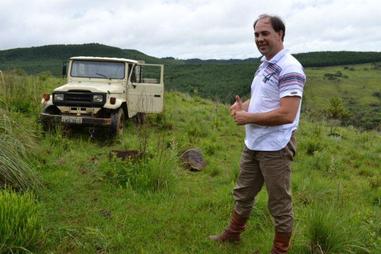 Gustavo Pries desapareceu no final da tarde de sábado  (03)  no Rio Pelotas