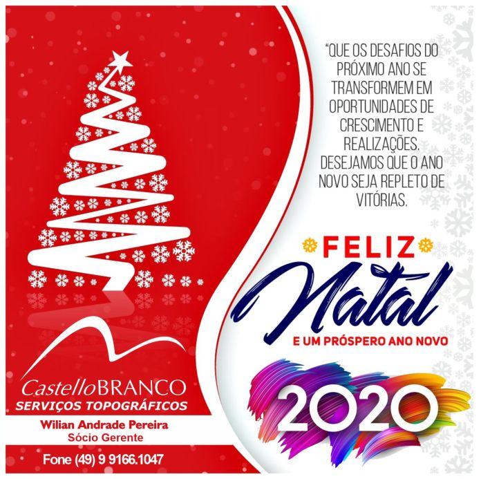 Castello Branco Topografia Deseja A Todos Um Feliz Natal E