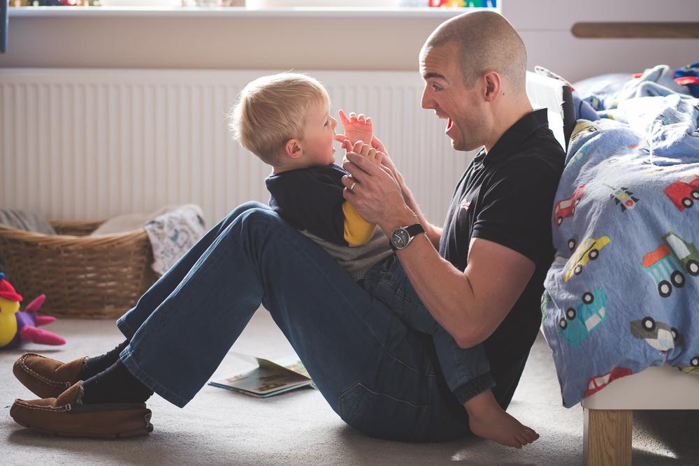 dad, son, boy, father, playing, happy