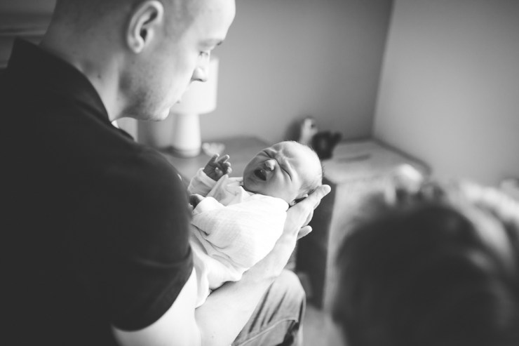 father and baby portrait, newborn photography