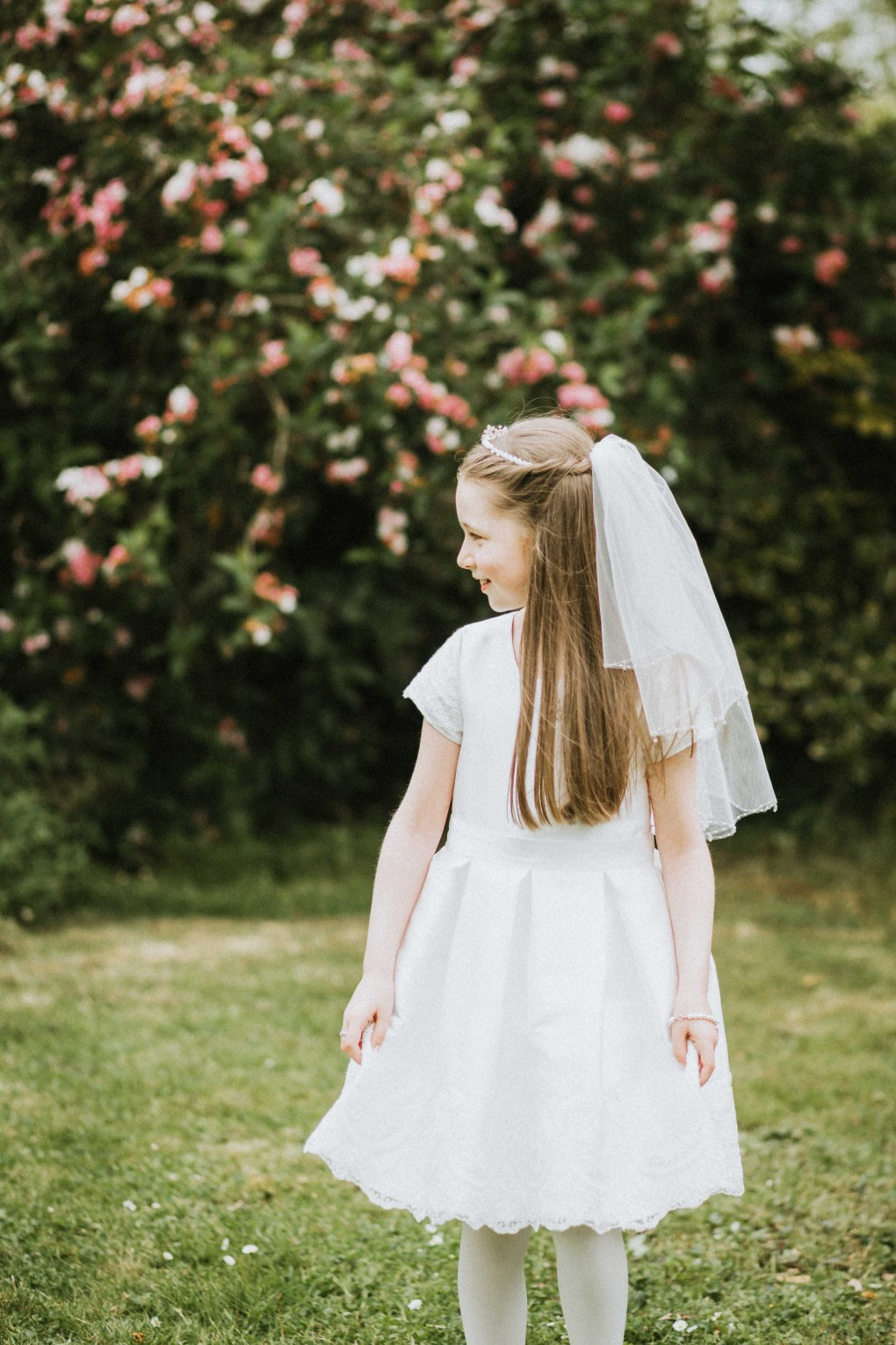 portrait of girl on communion day