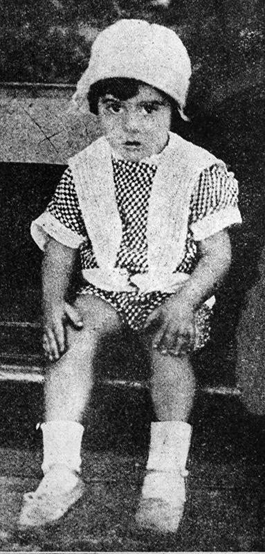 Antoninho, aos 5 anos de idade.