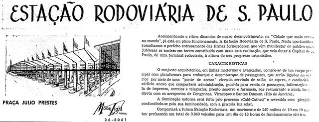 Anúncio da rodoviária em 1961 (clique para ampliar)