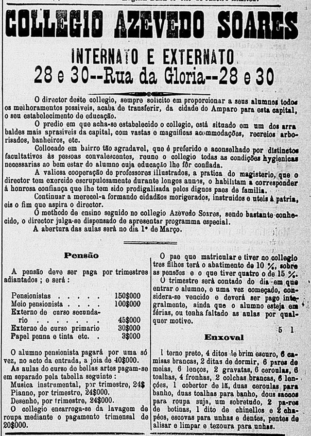 Anúncio de 1886 - Correio Paulistano