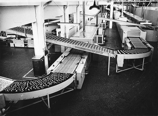 Maquinário automatizado da Bela Vista na década de 70 (clique para ampliar)