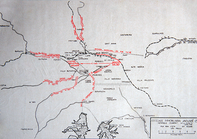 Mapa do Jaguaré em 1935 (clique na foto para ampliar)