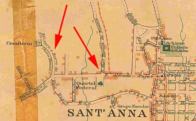 Mapa de São Paulo do ano de 1908