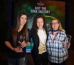 Dejana Petrovic (Heineken Brand Manager) sa pobednicama takmicenja