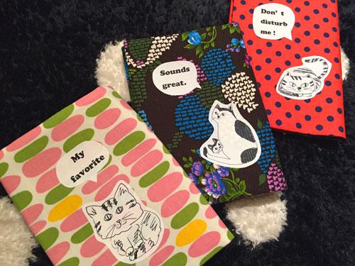 Saori Mochizuki 猫のブックカバー