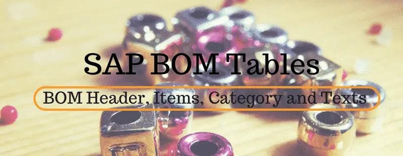 SAP BOM tables