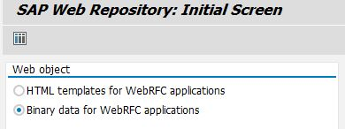 SAP Web Repository