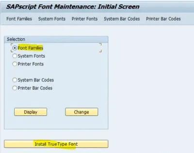 SAPSCRIPT FONT Maintenance