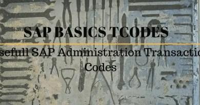 Usefull SAP Administration Transaction Codes - SAP Basics Tcodes