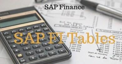 SAP FI Tables