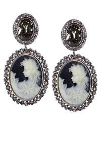 Nádia Gimenes - brinco trianon silver shade camafeu grande p