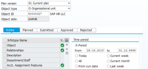 SAP HCM Infotype statuses in PP01