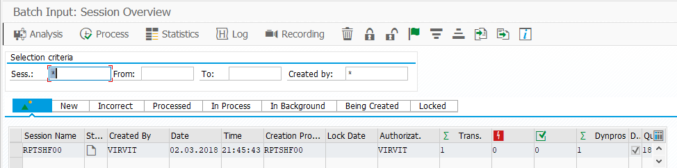 SM35 SAP Batch Input