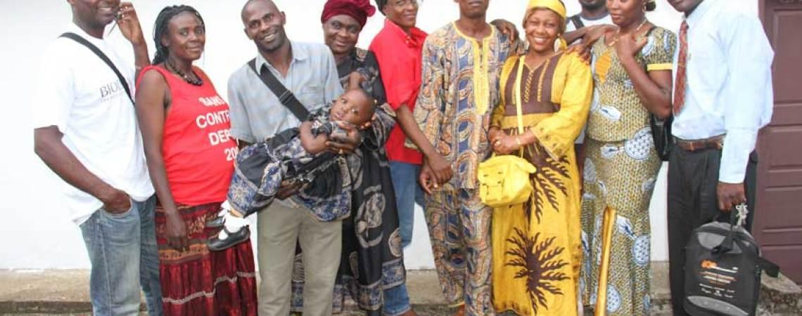 L'équipe du centre de savoir du Manengouba