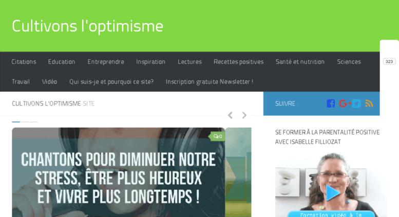 Saphir-Optimiste, cultivons-optimisme, optimisme, Franck Billaud, psychologie positive