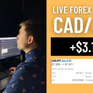 Real Forex Trade: Going Long CAD/JPY | These Trades Happen Sometimes 😢