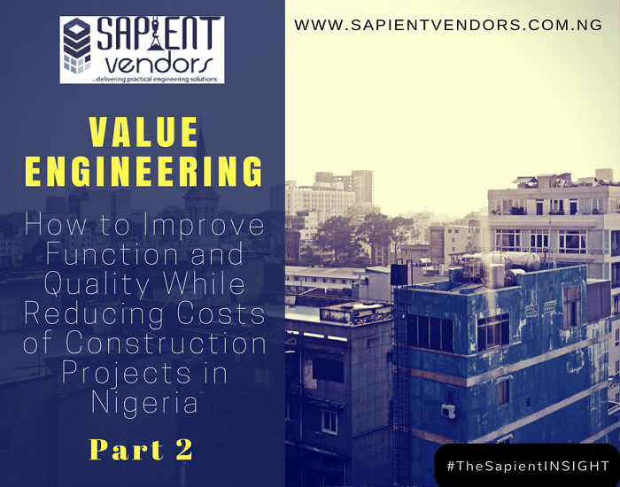 value engineering (part 2)