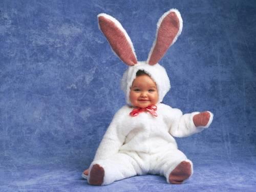 малыш в костюме зайца Дети - Обои для рабочего стола ...