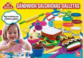 PLASTILINA SANDWICH SALCHICHAS