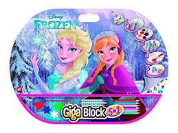 block dibujo frozen