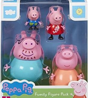 PACK 4 FIGURAS FAMILIA PEPPA PIG