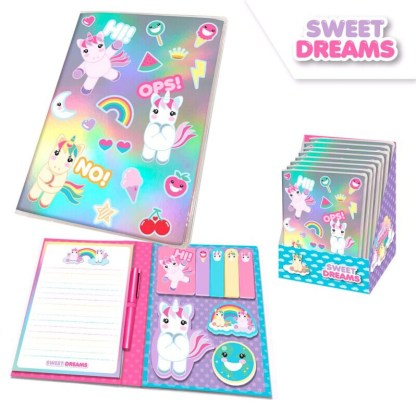LIBRETA CON POST ITS SWEET DREAMS A5