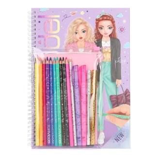 TOPModel Libro de Colorear con Set de Colores
