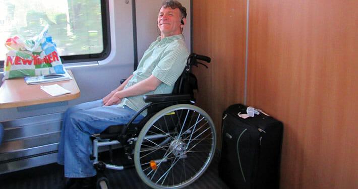 Сергей Сапоненко в поезде