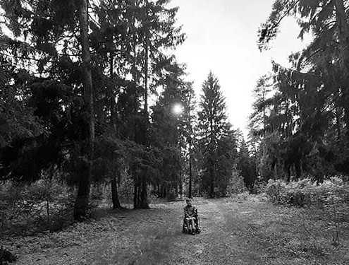 Сергей Сапоненко в лесу