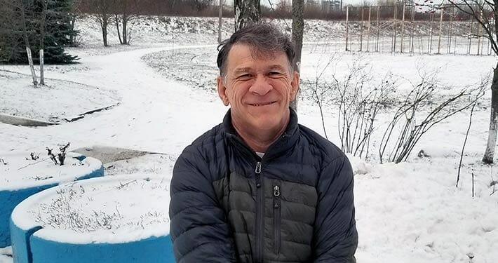 Сергей Сапоненко зимой