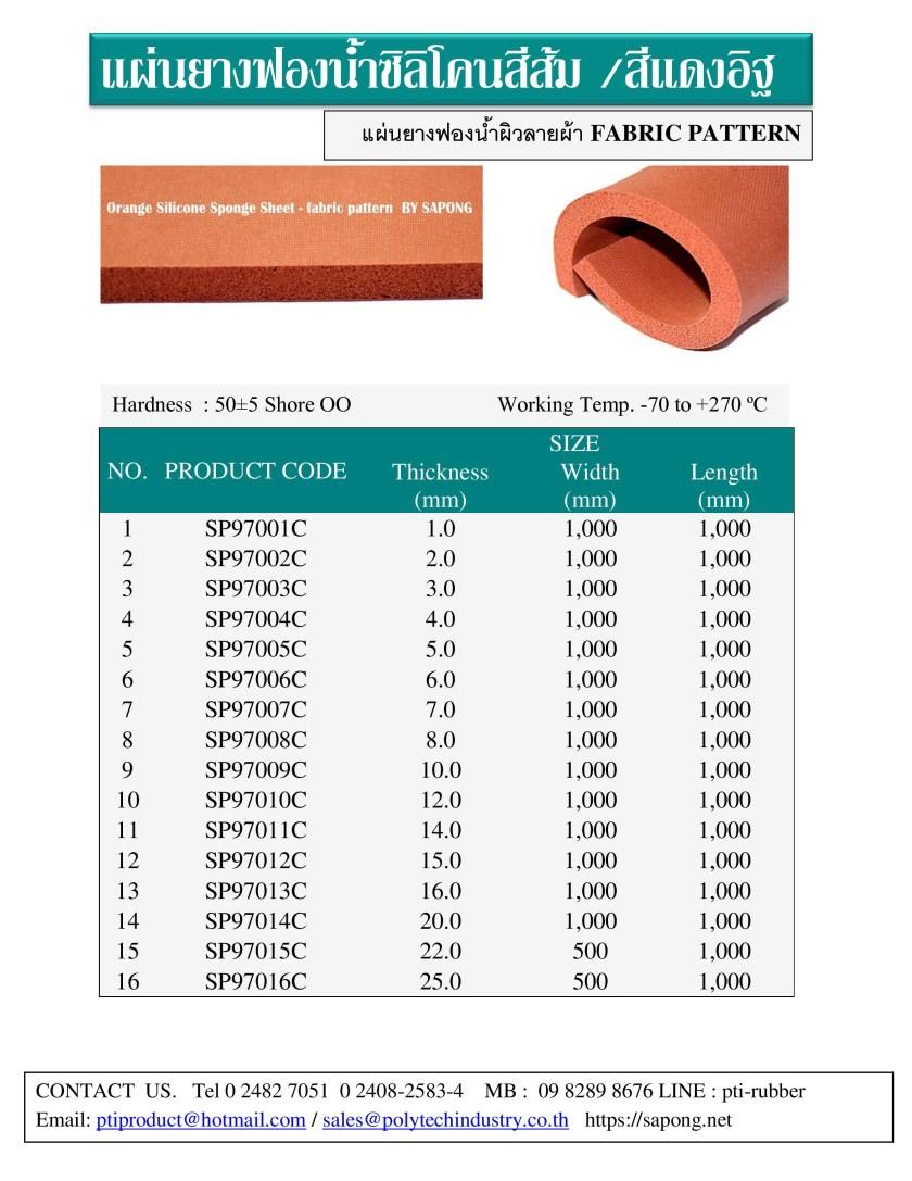 แผ่นยางฟองน้ำซิลิโคนผิวลายผ้า สีส้ม สีแดงอิฐ พร้อมส่ง.jpg