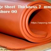 จำหน่ายแผ่นยางฟองน้ำซิลิโคนสีแดงอิฐ สีส้ม ความหนา 7 mm