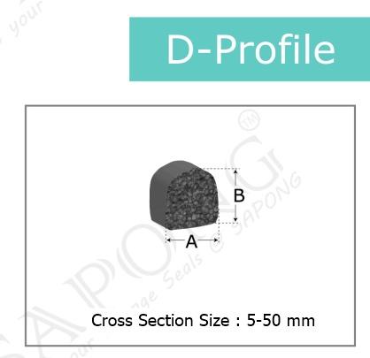 ซีลยางฟองน้ำ D-Profiles