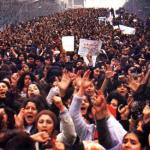 Manifestazione durante le festività dell'8 marzo
