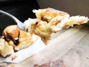 Sweet Apple Cinnamon Rolls with Caramel Icing