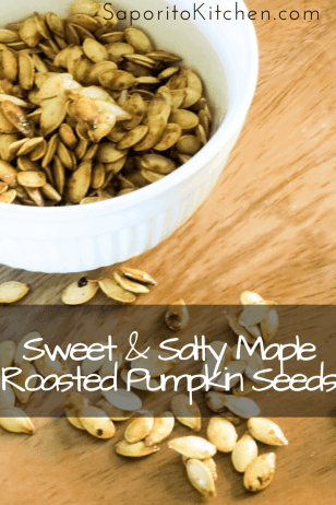 Sweet & Salty Maple Roasted Pumpkin Seeds