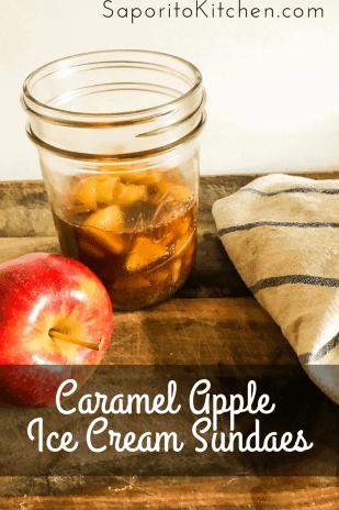 Caramel Apple Ice Cream Sundaes